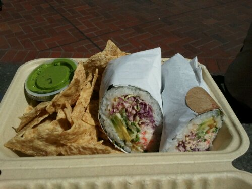 Work Lunch of Note: Sushirrito