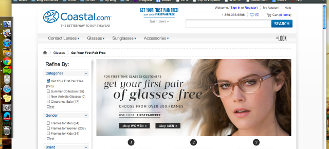 """Free"" Glasses from Coastal"
