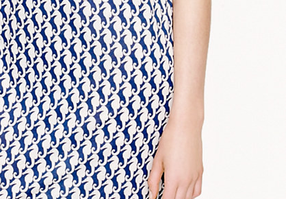 Selfie Time: J Crew Seahorse Print T Shirt Dress, Online Vs. Reality
