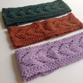 "Knit: The ""Filly""- Horseshoe Lace Headband"
