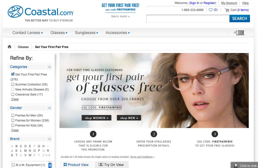"""Free"" Glasses from Coastal"