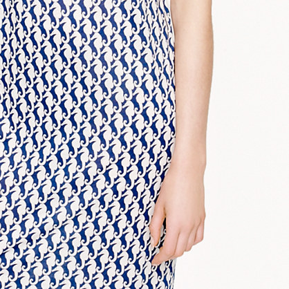 Selfie Time: J Crew Seahorse Print T Shirt Dress, Online Vs. Reality