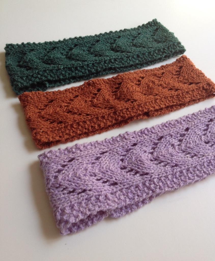 "Knit: The ""Filly""- Horseshoe Lace Headband"