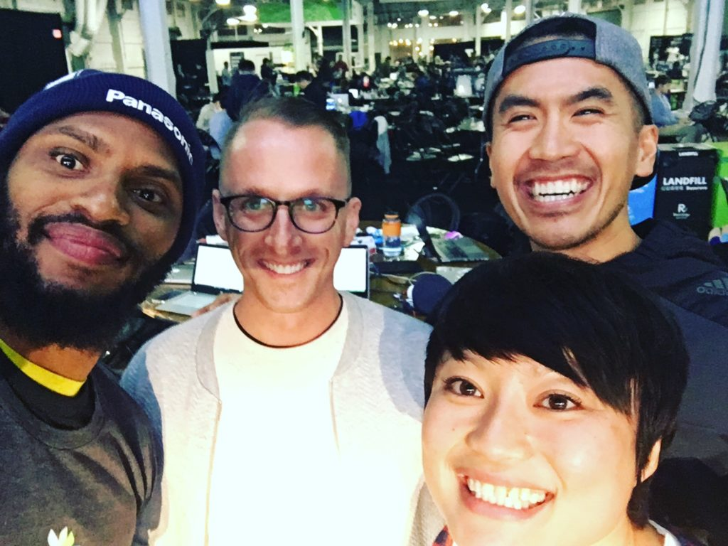 TechCrunch Disrupt Hackathon with my Learn buds